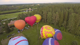 Inflating a hot air balloons Footage