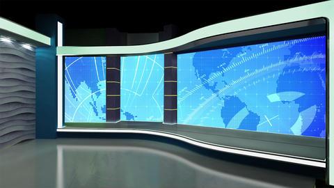 News TV Studio Set 182 - Virtual Background Loop Footage