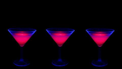 Cocktail under UV lights Footage