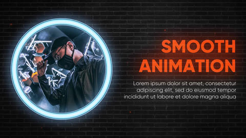 Slideshow - Black Wall Neon // Premiere Pro Premiere Pro Template