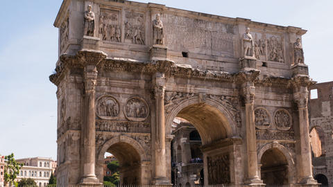 hyperlapse on the Arch of Constantine, Rome Italy Footage