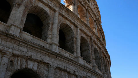 track shot on the colosseum, Rome Italy Footage