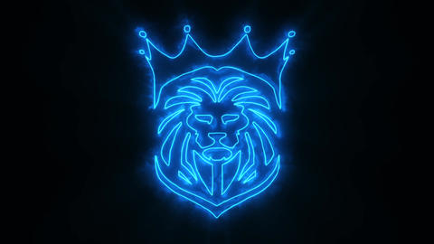 Blue Lion King Animated Logo with Reveal Effect Videos animados