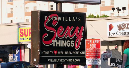 Sex Shop Sign In Orlando USA Footage