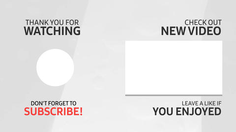 YouTube End Screen Video Template, Outro Card 006 Animation