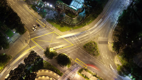Time Lapse Traffic Intersection Singapore Live Action