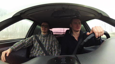 Personal driver takes his boss to a business meeting. The video was shot inside Footage
