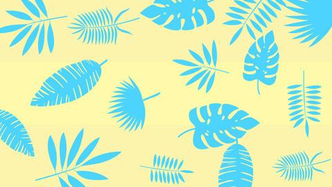 Tropical leaf minimal motion design animation Stock Video Footage