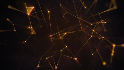 Golden Plexus on Dark Background Animation