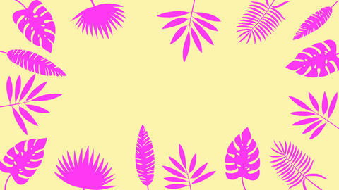 Tropical leaf minimal motion design animation Animation