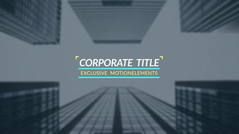 14 Corporate Titles After Effects Template