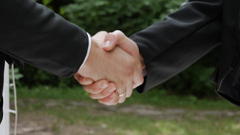 Shake hands of businessmen Footage