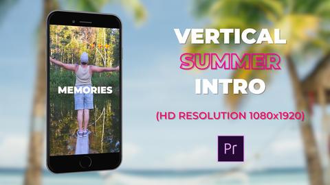 Vertical Summer Intro Plantillas de Premiere Pro