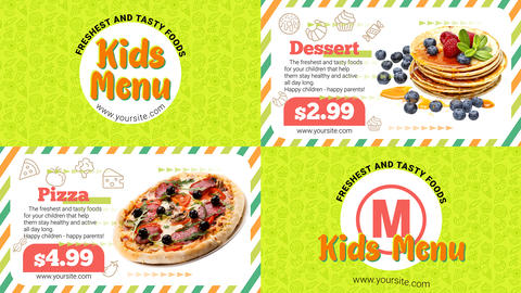 Kids Menu After Effects Template