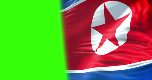north korea flag waving texture fabric background, crisis of north and south korea, korean risk Footage