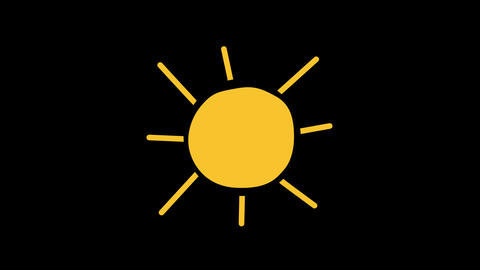 Animated sun with alpha channel background Animation