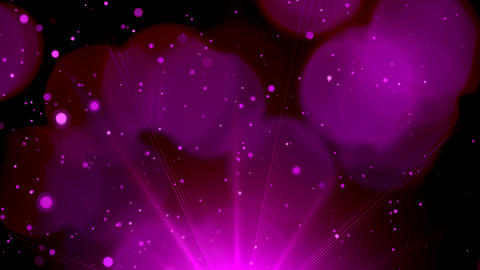 Purple particles dust abstract looped background. Christmas background Animation