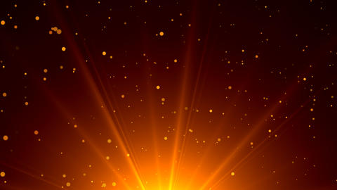 Particles dust background with lens flare, seamless loop background Animation