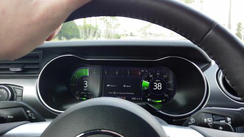 Ford Mustang Digital Speedometer Cluster GIF