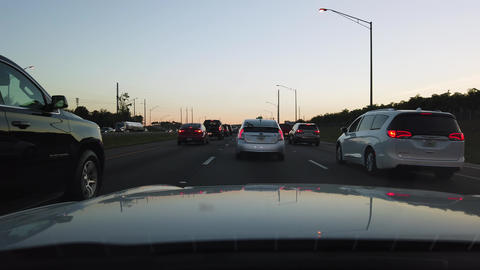 Evening Rush Hour On The Highway Interstate GIF