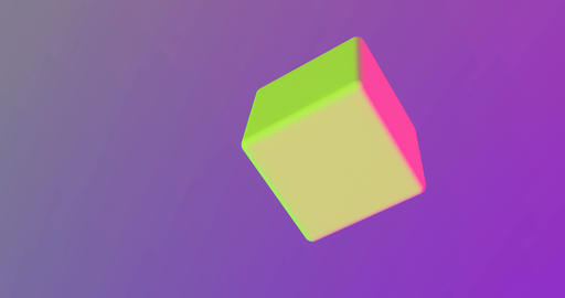Cube rotates in trend colors Footage
