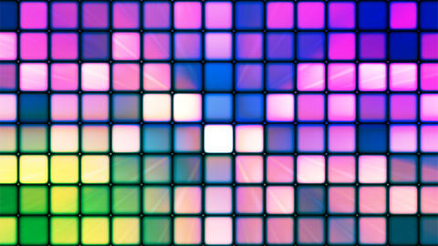 Broadcast Twinkling Hi-Tech Cubes, Multi Color, Abstract, Loopable, 4K Animation