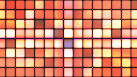 Broadcast Twinkling Hi-Tech Cubes, Brown Orange, Abstract, Loopable, 4K Animation