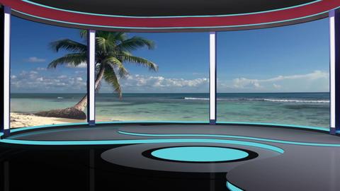News TV Studio Set 190 - Virtual Background Loop Footage