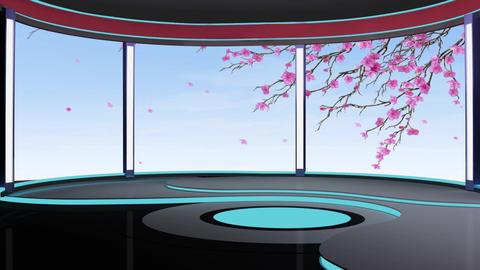 News TV Studio Set 191 - Virtual Background Loop Live Action