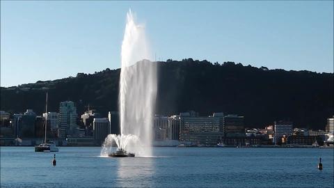 Oriental Bay fountain Wellington N Z Footage