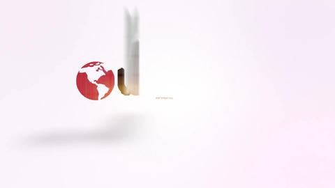 World Elegant Slice Logo Reveal After Effects Template