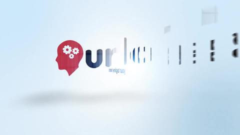 Digital Elegant Slice Logo Reveal After Effects Template