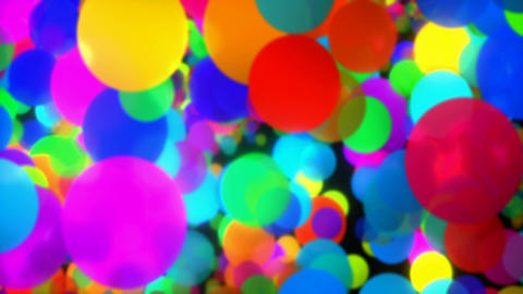 Colorful dots twinkling with blurred motion Animation