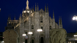Europe Italy Lombardy Region Milan 019 facade of the catholic cathedral with str Footage