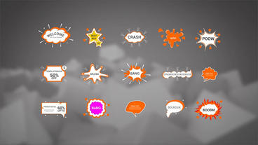 Comic Bubbles After Effects Templates