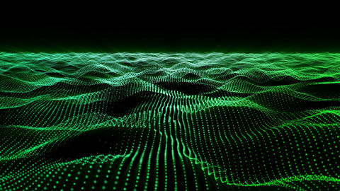 Motion background, wavy animated surface loop CG動画