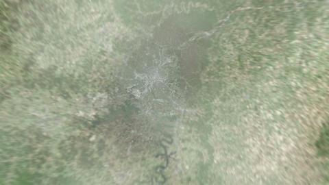 4K Earth Zoom: Nashville – USA Animation