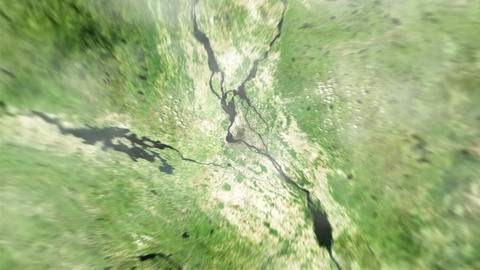 4K Earth Zoom: Montreal – Canada Animation