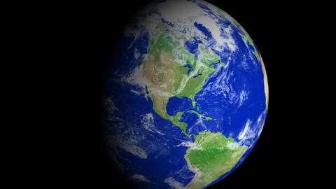 4K Earth Zoom: San Antonio – USA Animation
