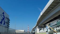Yokohama, factory zone pass/横浜市生麦付近 Footage