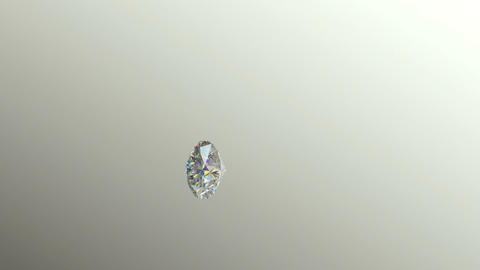 Diamonds or gems scatter with slow motion alpha Animation