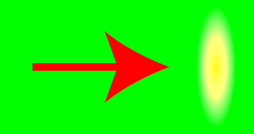Red arrow pointer on green background Footage