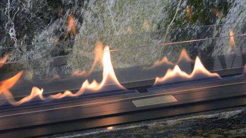Modern bio fireplot fireplace on ethanol gas Footage