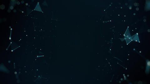 Slowly Floating Cyan Plexus Sides Animation
