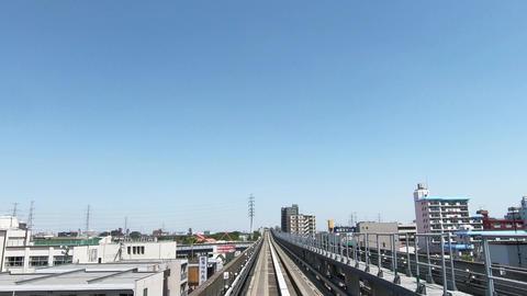 Straight travel of urban traffic Footage