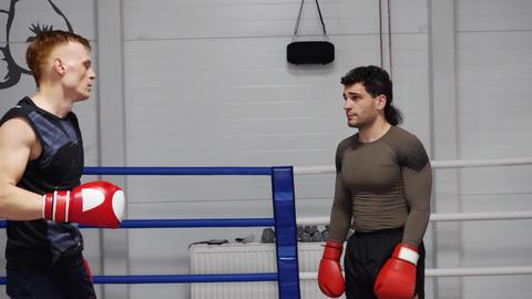 Boxers Discuss Fight Joke Conversation Sport Ring, Live Action