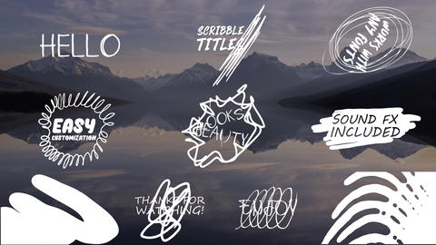 Cartoon Scribble Titles After Effects Template