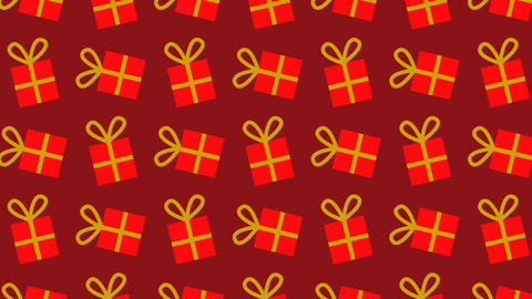 animated pattern with gift packages ideal for the Christmas season Footage