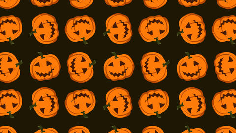 animated pattern with pumpkin ideal for the Halloween period Footage