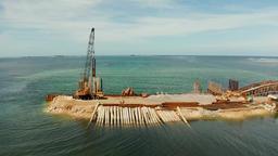 Bridge under construction on the island of Siargao Footage
